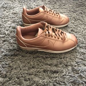 Nike Cortez Rose Gold Tennis Shoe